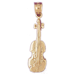 14k gold violin instrument charm