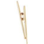 14k gold 36mm 3-d drumsticks charm pendant