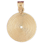 14k gold lp record charm pendant