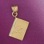 14k gold book charm