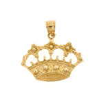 14k gold royal crown pendant