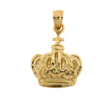 14k gold imperial crown charm