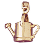 14k gold 3d watering can charm