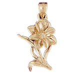 14k gold blossoming flower charm