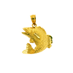14k gold 18mm fish charm