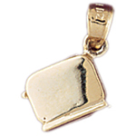 14k gold 3d toaster charm