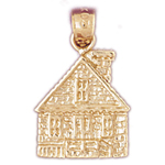 14k gold home charm