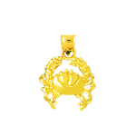 14k gold sea crab charm