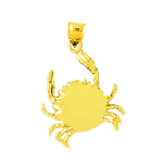 14k gold sealife crab charm