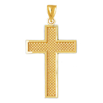 14k gold 36mm cross charm pendant