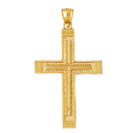 14k gold 55mm cross charm pendant
