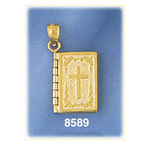 14k gold 3d lord's prayer holy bible charm