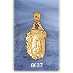 14k gold jesus christ face charm