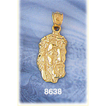 14k gold jesus christ head charm