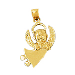 14k gold 21mm angel charm pendant
