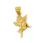 14k gold cherub angel 3d charm