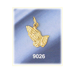 14k gold 13mm praying hands charm