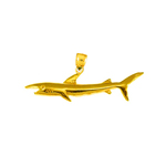 14k gold 30mm shark charm pendant