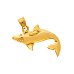14k gold 26mm shark charm pendant