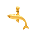 14k gold 28mm shark charm pendant
