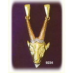 14k tri color gold zodiac capricorn pendant
