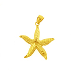 14k gold starfish sealife pendant