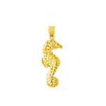 14k gold small seahorse charm