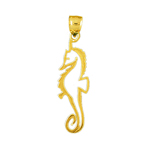 14k gold cut-out seahorse charm