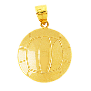 14k gold volleyball pendant