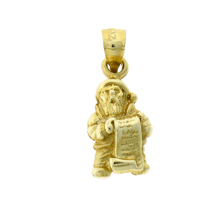 14k gold 3d toys list and santa claus charm