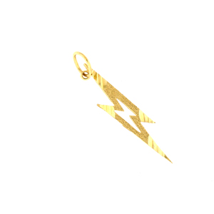 14kt gold lightening charm