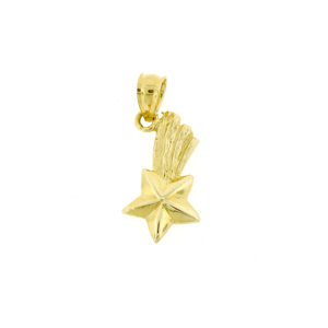 14k gold shooting star celestial charm