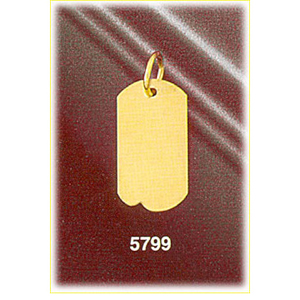 "14k gold engravable 3/4"" dog tag charm"