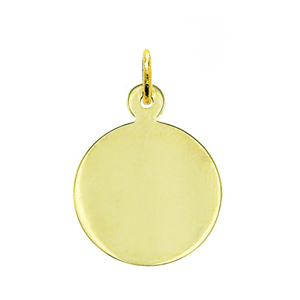 "14k gold 5/8"" engravable round disc charm"