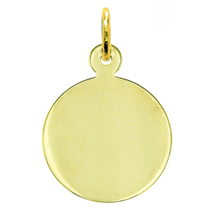 "14k gold engravable 7/8"" round disc pendant"