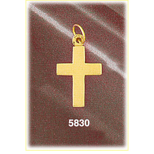 "14k gold 3/4"" engravable cross disc charm"