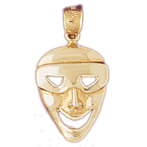 14k gold superhero drama mask charm