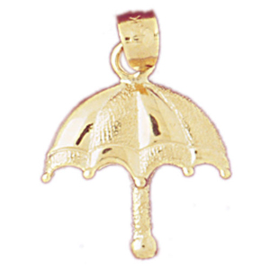 14k gold umbrella charm