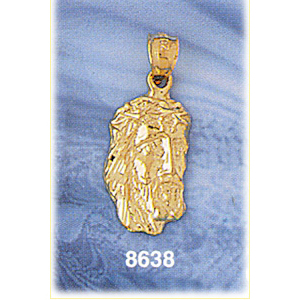 14kt gold jesus christ head charm aloadofball Choice Image