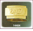 14K Gold Dad's Ring