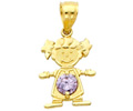 14k gold birthstone baby charms
