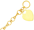 14k gold heart tag bracelets