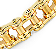 mens gold bicycle chain bracelet