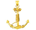 14k gold nautical charms
