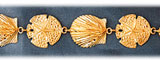 14k gold sea shell & sand dollar bracelet