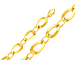 14k gold womens oval chain link fancy light bracelet