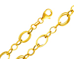 14k gold fancy light chain link women bracelet