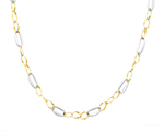 14k two tone gold womens fancy necklace