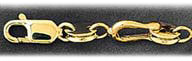 14k gold 8mm shackle link mens bracelet