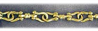 14k gold 5mm mens shackle bracelet